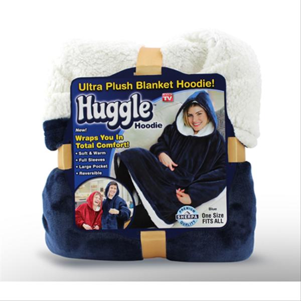 Толстовка худи оверсайз плед халат с капюшоном Huggle Hoodie односторонняя, мініатюра №7