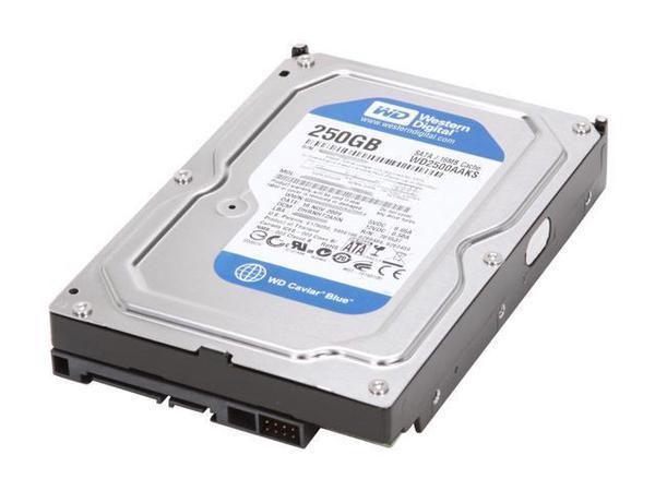 """Внутрішній жорсткий диск Western Digital Caviar blue 250ГБ 7200 обертів в хвилину 16МБ 3.5"""" SATA II WD2500AAKS, мініатюра №2"""