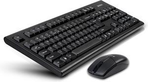 Комплект клавиатура и мышь A4Tech V-Track 3100N USB Black