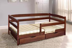 Кровать МИКС-Мебель Односпальная  Ева 90*200 Темный орех  (71246)