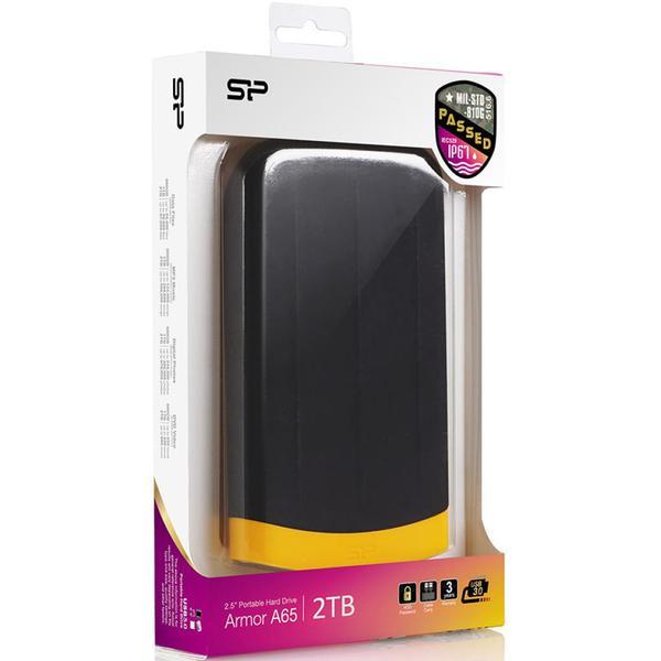 """Зовнішній жорсткий диск Silicon Power 2ТБ 2.5"""" USB 3.0 чорний SP020TBPHDA65S3K, мініатюра №4"""