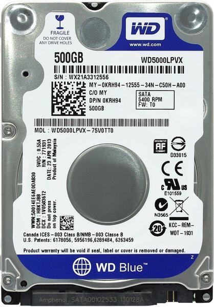 """Внутрішній жорсткий диск Western Digital 500ГБ 5400 обертів в хвилину 8МБ 2.5"""" SATA III WD5000LPVX, мініатюра №5"""