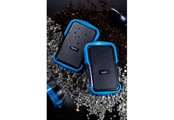 """Зовнішній жорсткий диск Apacer 2ТБ 2.5"""" USB 3.1 чорний синій AP2TBAC631U-1, мініатюра №4"""