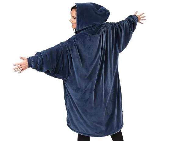 Толстовка худи оверсайз плед халат с капюшоном Huggle Hoodie односторонняя, мініатюра №3