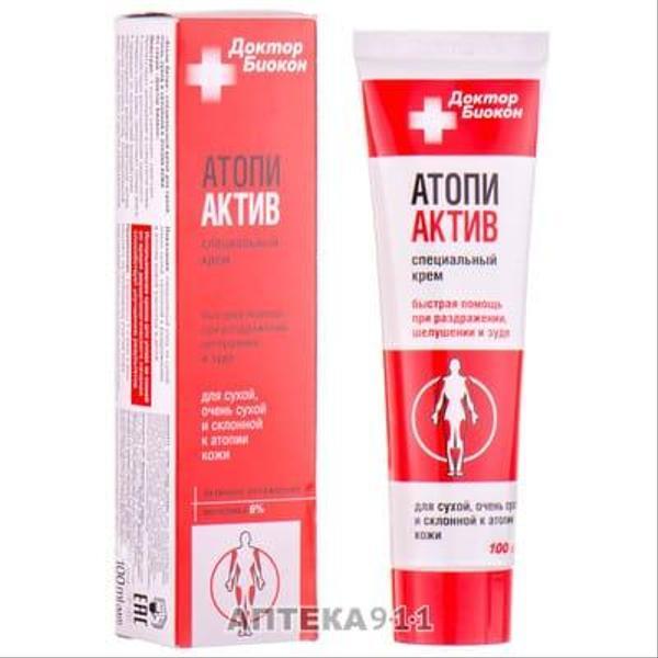 Специальный крем Атопи Актив предназначен для сухой очень и склонной к атопии кожи (100мл.), мініатюра №1