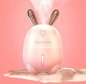 Зволожувач повітря і нічник 2 в 1 Usams Humidifier Rabbit рожевий