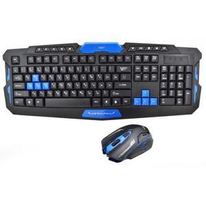 Игровая русская беспроводная клавиатура мышка HK8100