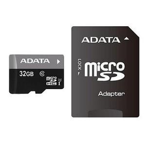Карта пам`яті ADATA 32Gb microSDHC Ultra UHS-I +SD адаптер Class 10 (AUSDH32GUICL10-RA1)
