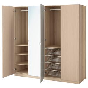 Шкаф IKEA PAX 4-дверный 200x60h201 самозакр.петли дуб Nexus/Vikedal  (891.276.42)