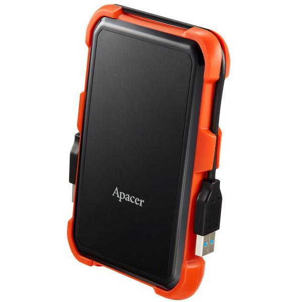 """Зовнішній жорсткий диск Apacer 2ТБ 2.5"""" USB 3.1 чорний помаранчевий AP2TBAC630T-1, мініатюра №2"""