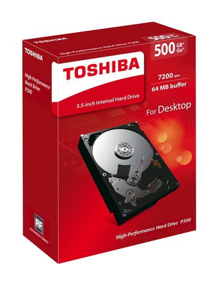 """Внутрішній жорсткий диск Toshiba P300 500ГБ 7200 обертів в хвилину 64МБ 3.5"""" SATA III HDWD105UZSVA, мініатюра №7"""