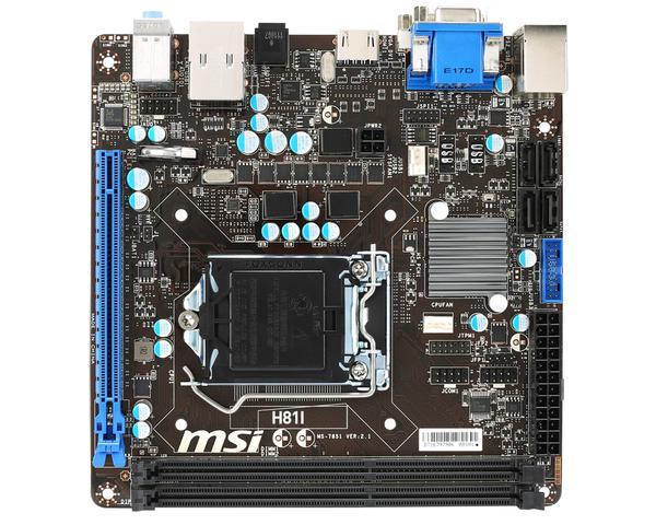 Материнська плата MSI  H81I (7851-040R), мініатюра №1