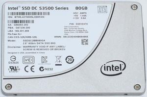 Внутренний накопитель Intel SSD DC S3500 SERIES 80GB 2.5 inches 6Gb SSDSC2BB080G4