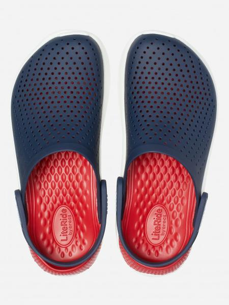 Сабо Crocs Literide Clog 42-43 26.3 см Синий Красный 204592-4CC-M9/W11 NAVY/PEPPER, мініатюра №4