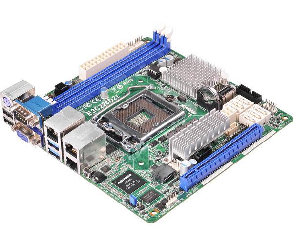 Материнська плата Asrock  E3C226D2I для сервера/рабочей станции (E3C226D2I), мініатюра №3