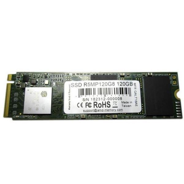 Внутренний накопитель AMD 120 ГБ M.2 PCI-Express NVMe 3D TLC R5MP120G8, мініатюра №1