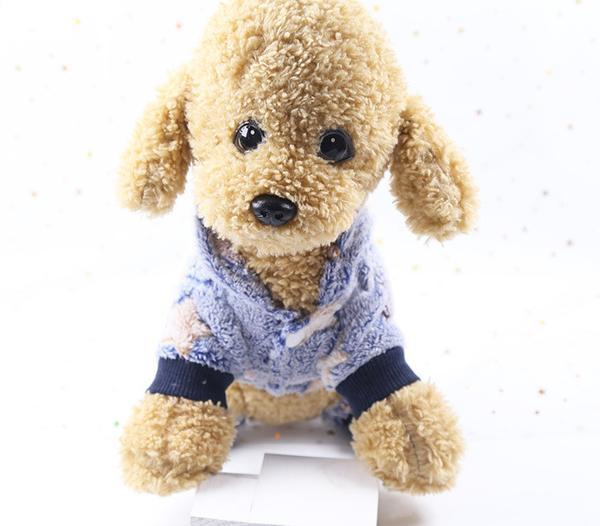Комбинезон для собак флисовый Alfa Звезды XS Голубой, мініатюра №5