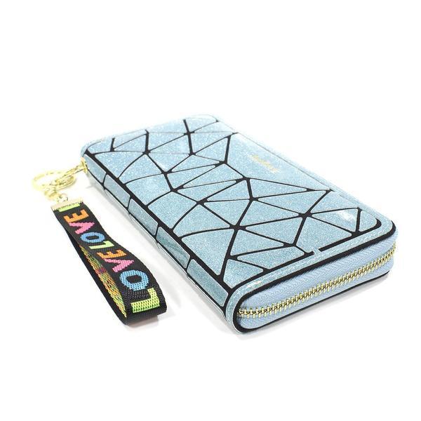 Кошелек женский синий Baellerry N2823 Blue аксессуар для хранения денег клатч визитных карт на змейке, мініатюра №4