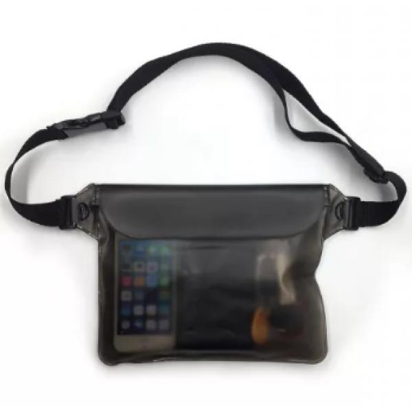 Водонепроницаемая черная сумка чехол LAVKA  для денег телефона документов, мініатюра №1