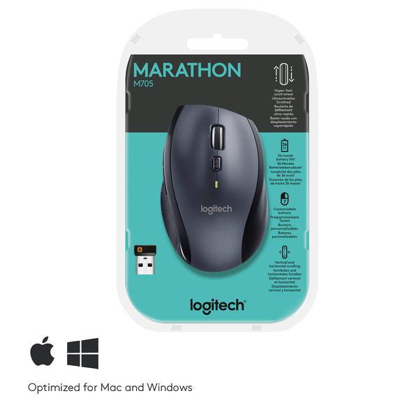 Мишка Logitech M705 Marathon Wireless Black (910-001949), мініатюра №12