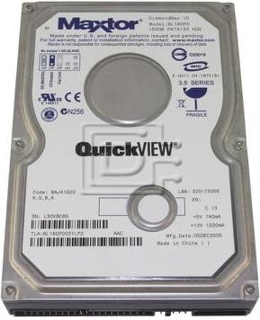 """Внутрішній жорсткий диск Maxtor Seagate DiamondMax 160ГБ 7200 обертів в хвилину 8МБ 3.5"""" IDE 6L160P0, мініатюра №1"""