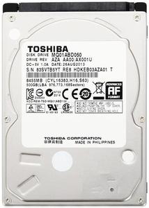 """Внутрішній жорсткий диск Toshiba 500ГБ 5400 обертів в хвилину 8МБ 2.5"""" SATA II MQ01ABD050V"""