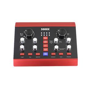 USB Аудиоинтерфейс Lesko 5000X внешняя звуковая карта-пульт с функциями обработки голоса