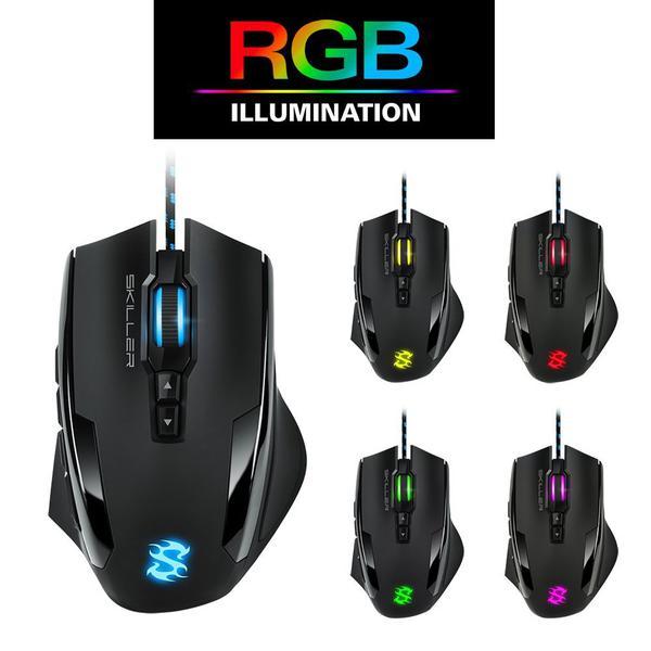 Мишка Sharkoon  Skiller SGM1 RGB (SKILLER SGM1), мініатюра №7