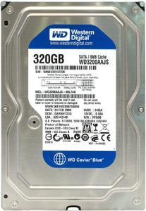 """Внутрішній жорсткий диск Western Digital 320ГБ 7200 обертів в хвилину 8МБ 3.5"""" SATA II WD3200AAJS"""