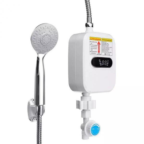Термостатический проточный водонагреватель Delimano1 с экраном и душем, мініатюра №2