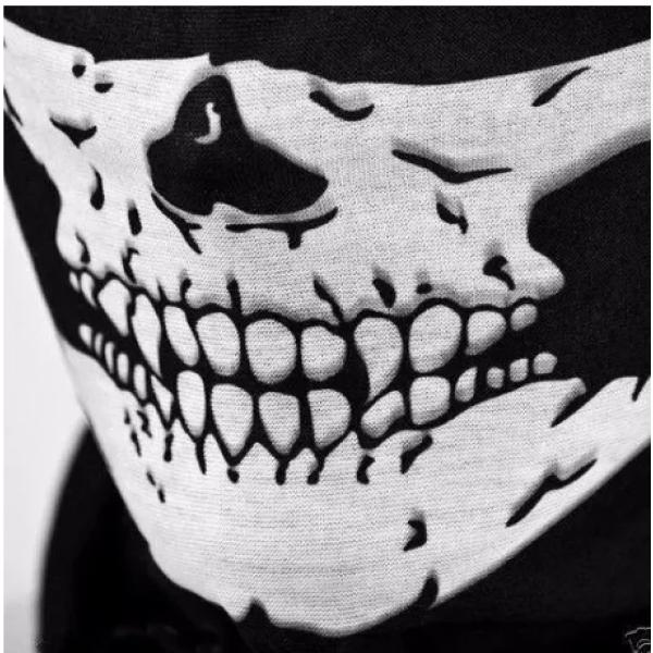 Баф с черепом маска skull из лавсана, Черный (7111942013), мініатюра №3