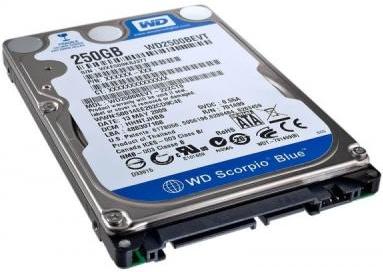 """Внутрішній жорсткий диск Western Digital 250ГБ 5400 обертів в хвилину 8МБ 2.5"""" SATA II WD2500BEVT, мініатюра №2"""