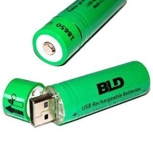 Аккумулятор 18650 BLD Li-ion 3.7v 3800mah Green АКБ батарея с USB зарядкой для фонарика вейпа