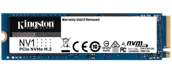 SSD накопитель Kingston NV1 1TB M.2 NVMe 2280 PCIe 3.0 x4 3D TLC (SNVS/1000G)