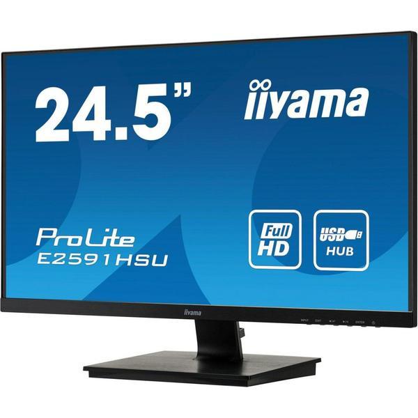 "Монітор Iiyama ProLite LED 24.5"" Full HD E2591HSU-B1, мініатюра №4"