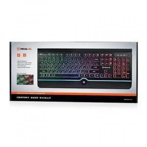 Клавиатура REAL-EL 8000 Comfort Backlit Black