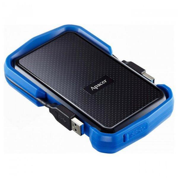 """Зовнішній жорсткий диск Apacer 1ТБ 2.5"""" USB 3.0 чорний синій AP1TBAC631U-1, мініатюра №4"""