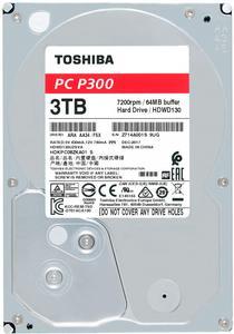 """Внутрішній жорсткий диск Toshiba 3.5"""" 3Tb P300 SATA3 64Mb 7200 rpm HDWD130UZSVA"""