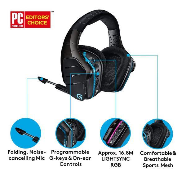 Навушники Logitech G933 Gaming Wireless (981-000599), мініатюра №13