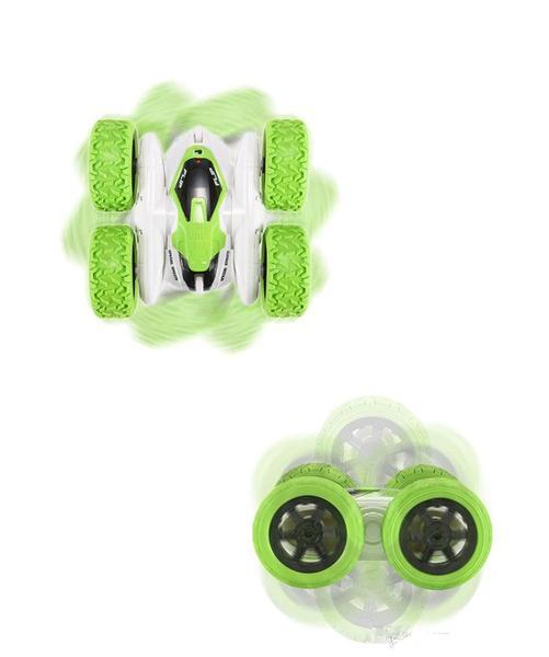 Машинка перевертыш вездеход трюковая на радиоуправлении Ydjia Stunt Car D828 Green, мініатюра №5