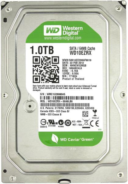 """Внутрішній жорсткий диск Western Digital Caviar green 1ТБ 5400 обертів в хвилину 64МБ 3.5"""" SATA III WD10EZRX, мініатюра №1"""