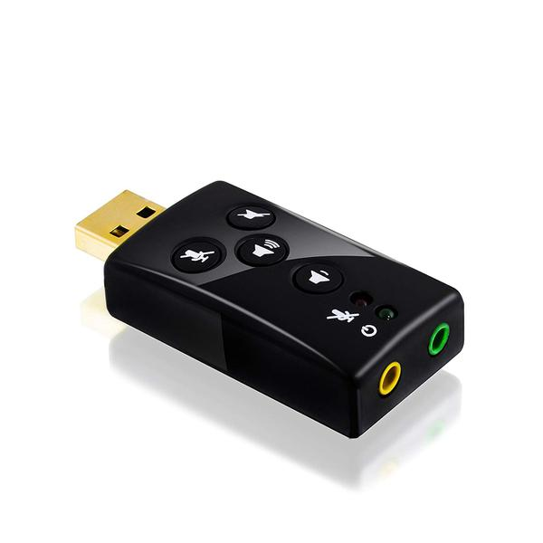 Зовнішня звукова карта CSL USB 7.1 SCHEDA, мініатюра №1