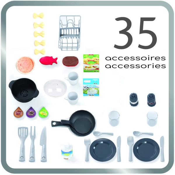 Интерактивная детская кухня со звуком голубая Tech Edition Smoby 311049, мініатюра №8