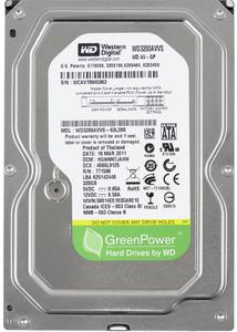 """Внутрішній жорсткий диск Western Digital AV greenPower 320ГБ 5400 обертів в хвилину 8МБ 3.5"""" SATA II WD3200AVVS"""