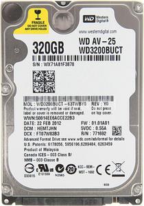"""Внутрішній жорсткий диск Western Digital 320ГБ 5400 обертів в хвилину 16МБ 2.5"""" SATA II WD3200BUCT"""