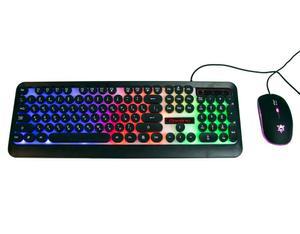 Светящаяся компьютерная клавиатура геймерская игровая мышь с подсветкой HK3970 мышка для компьютера