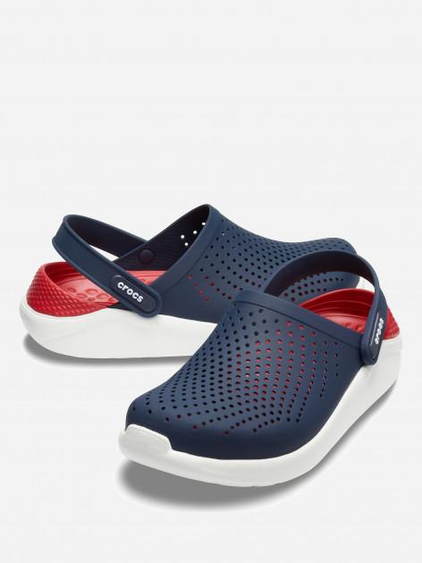 Сабо Crocs Literide Clog 42-43 26.3 см Синий Красный 204592-4CC-M9/W11 NAVY/PEPPER, мініатюра №1