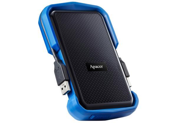 """Зовнішній жорсткий диск Apacer 2ТБ 2.5"""" USB 3.1 чорний синій AP2TBAC631U-1, мініатюра №3"""