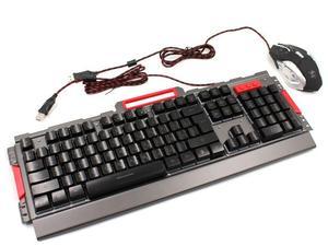 Комплект проводная клавиатура игровая LED и мышь MHz K33 6946 42638