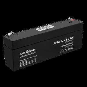 Акумулятор кислотний AGM LogicPower LPM 12 2,3 AH